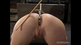 Hogtied – Sarah Blake tied up and made cum over and over again