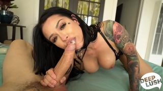 Tattooed Babe Katrina Jade Orgasms and Begs for Creampie