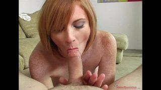 Redhead MILF Allison Wyte Sucks a Stunt Cock