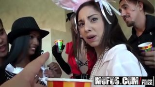 (Adriana Milano) Trinity St-Clair – College Halloween orgy party – Mofos
