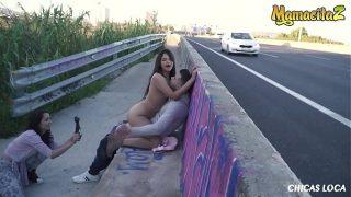 CHICS LOCA – #Nikol #Alberto Blanco – Sexy Latina Teen Bangs With Boyfriend Near The Highway – THIS IS INSANE!